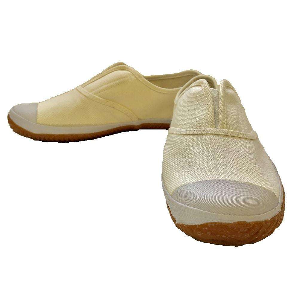 つま先ガード付軽作業靴 白 25.5