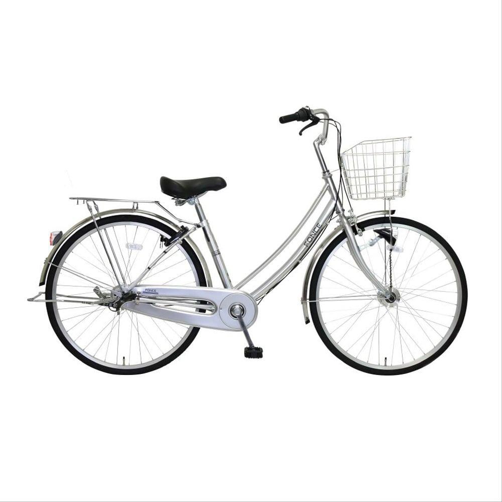 【自転車】《マルキン自転車》26型軽快車 フォンセ 内装3段 シルバー