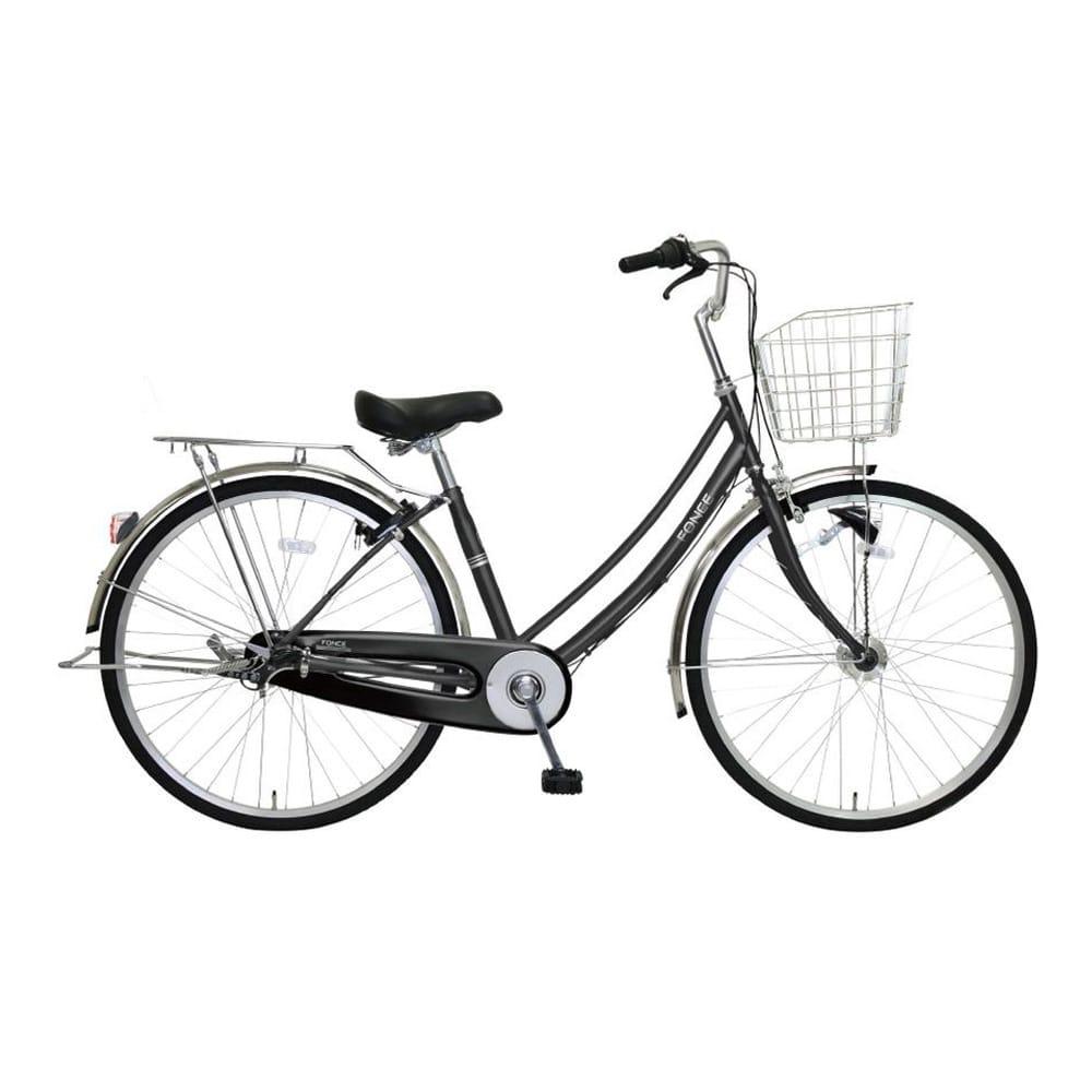 【自転車】《マルキン自転車》27型軽快車 フォンセ 内装3段 ブラック