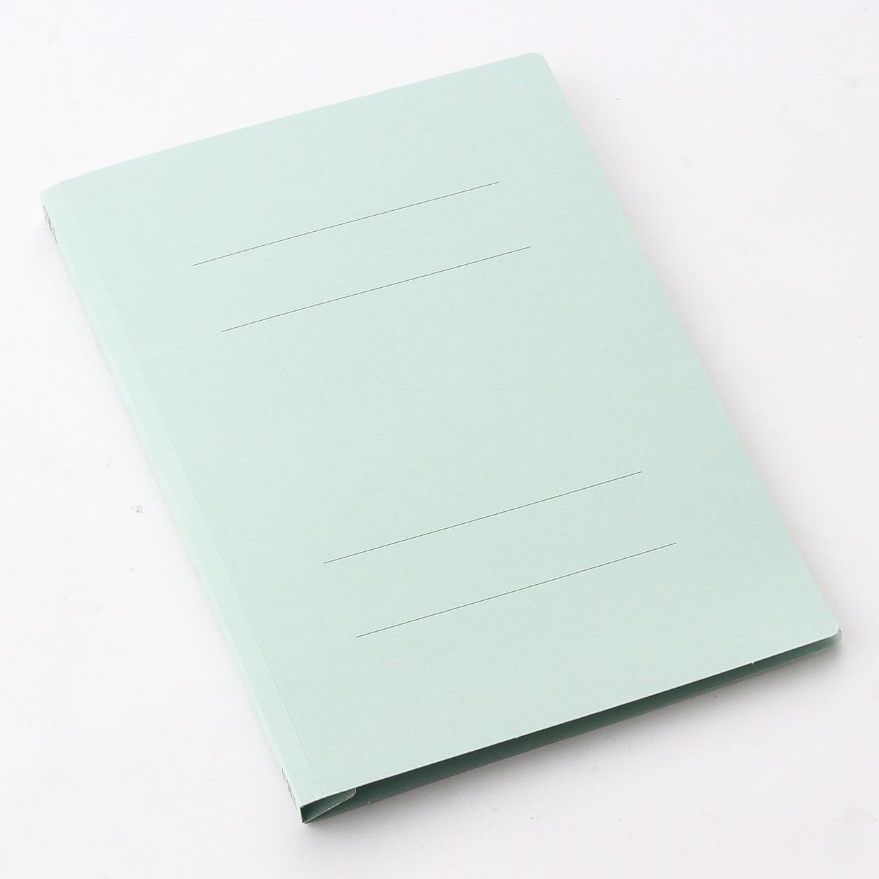 プラス フラットファイル 樹脂 A4 縦 ブルー (NO.021N) 10冊