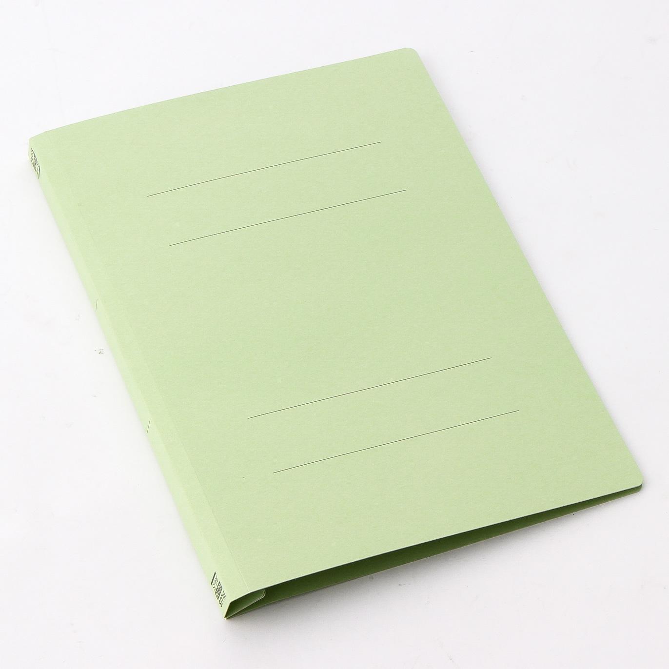 プラス フラットファイル 樹脂 A4 縦 グリーン (NO.021N) 10冊