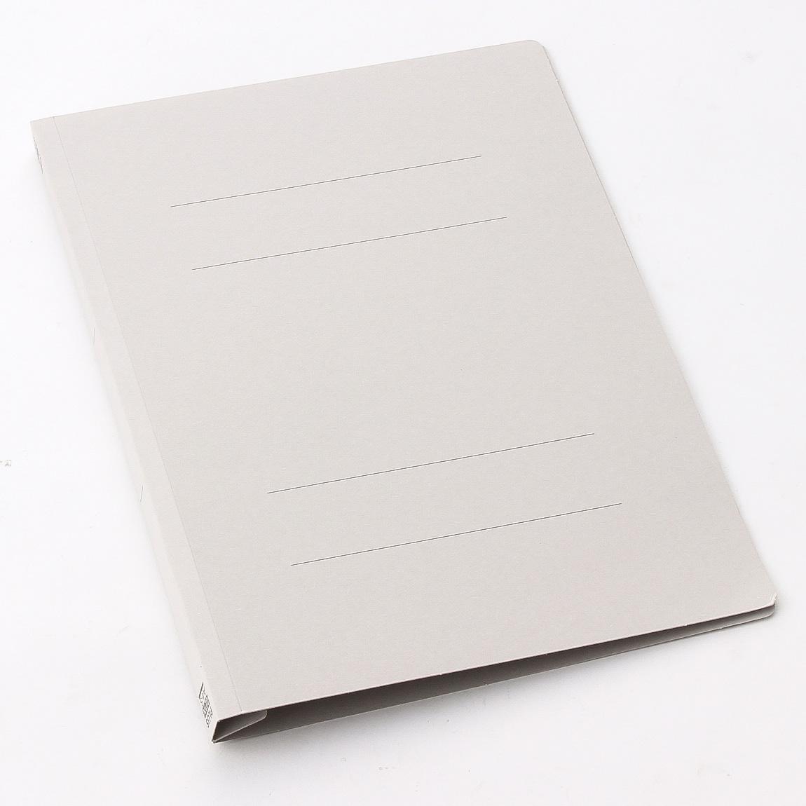 プラス フラットファイル 樹脂 A4 縦 グレー (NO.021N) 10冊