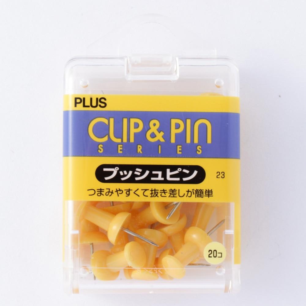 プラス プッシュピン イエロー CP-103P 1箱(20本)