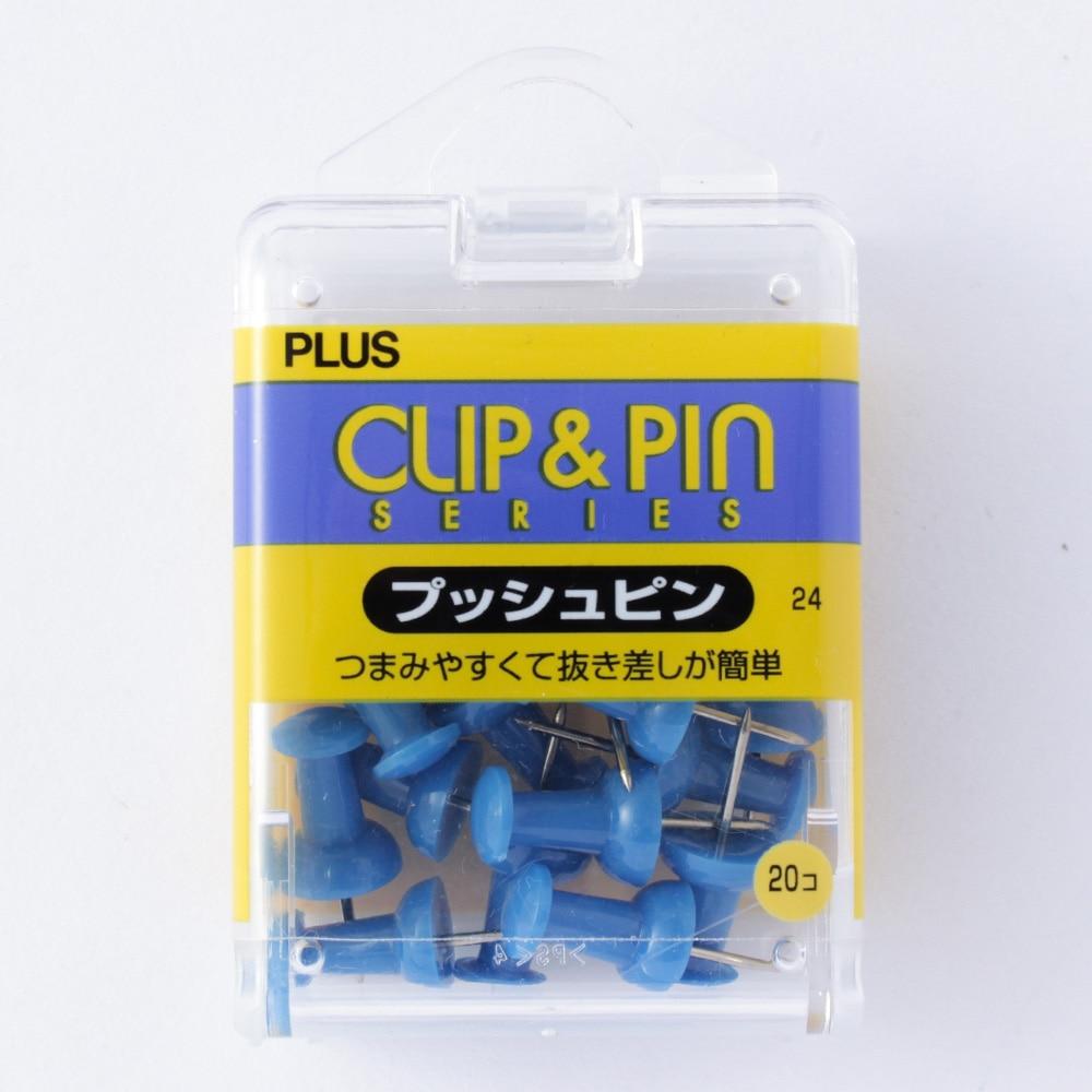 プラス プッシュピン ブルー CP-104P 1箱(20本)