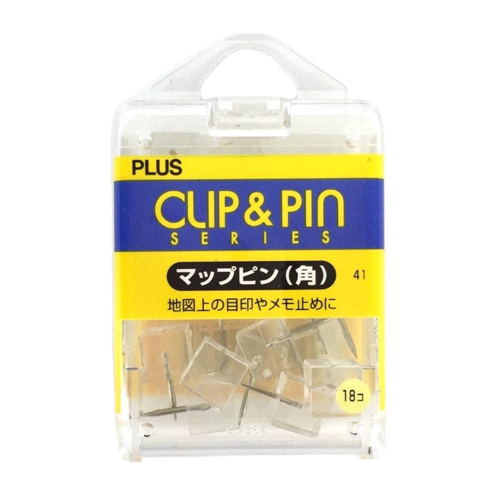 プラス マップピン 角 CL CP-108R 1セット(3個)