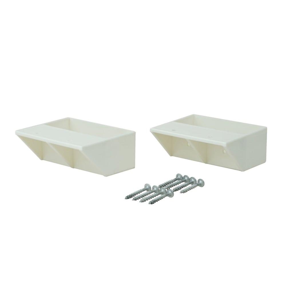 ラブリコ 2×4材用 棚受シングル オフホワイト