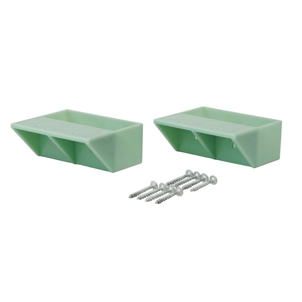 平安伸銅工業 LABRICO 2*4 棚受シングル ヴィンテージグリーン DXV-2(1コ入)