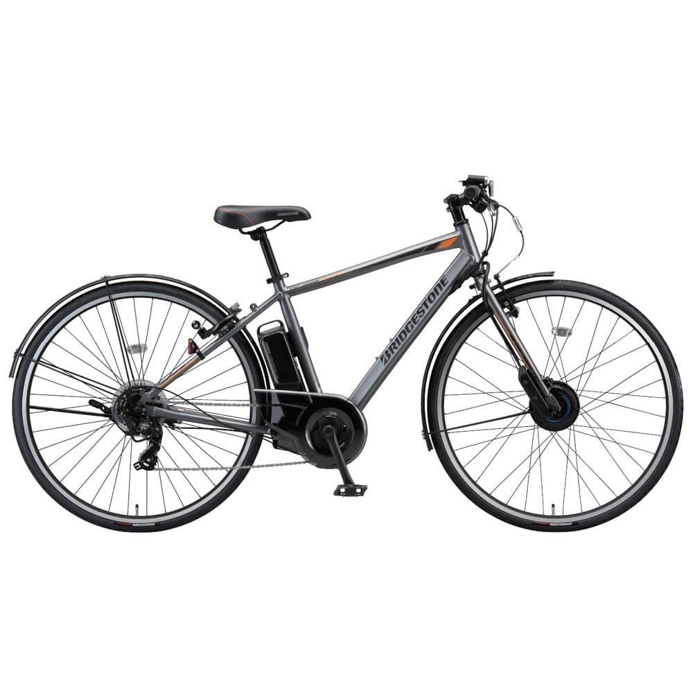 【ネット限定事前予約210609】【自転車】《ブリヂストン》電動クロスバイク TB1e ティービーワンe TB7B41 27インチ 7段 T.Xマットグレー