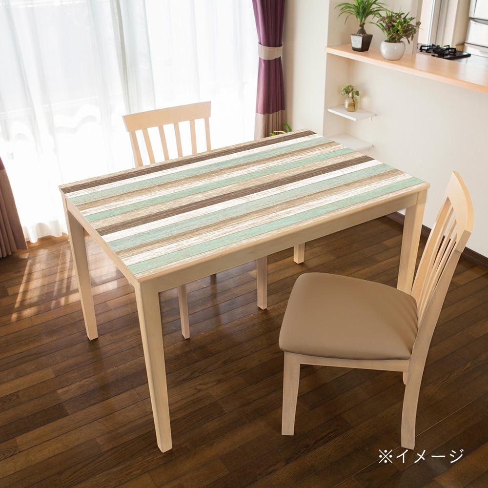 TABLECLOTH DECORATION テーブルデコレーション 貼る!テーブルシート 90cm×150cm スクラップウッド GR・グリーン