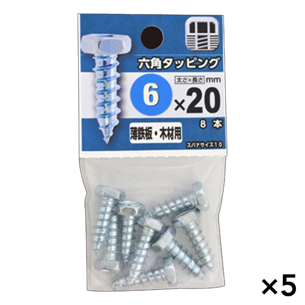 【ケース販売】六角タッピング 6X20×5個[4979874454027×5]
