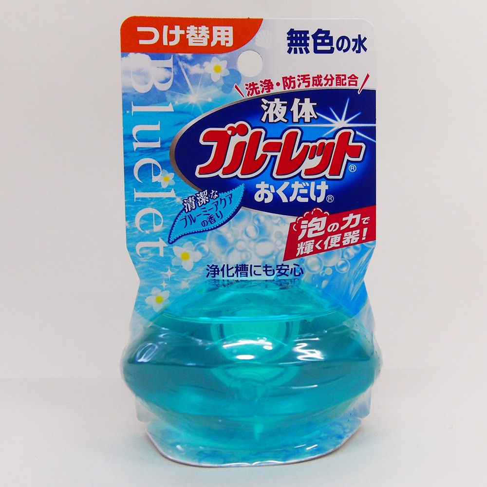 小林製薬 液体ブルーレットおくだけ 清潔なブルーミーアクアの香り つけ替用 70ml