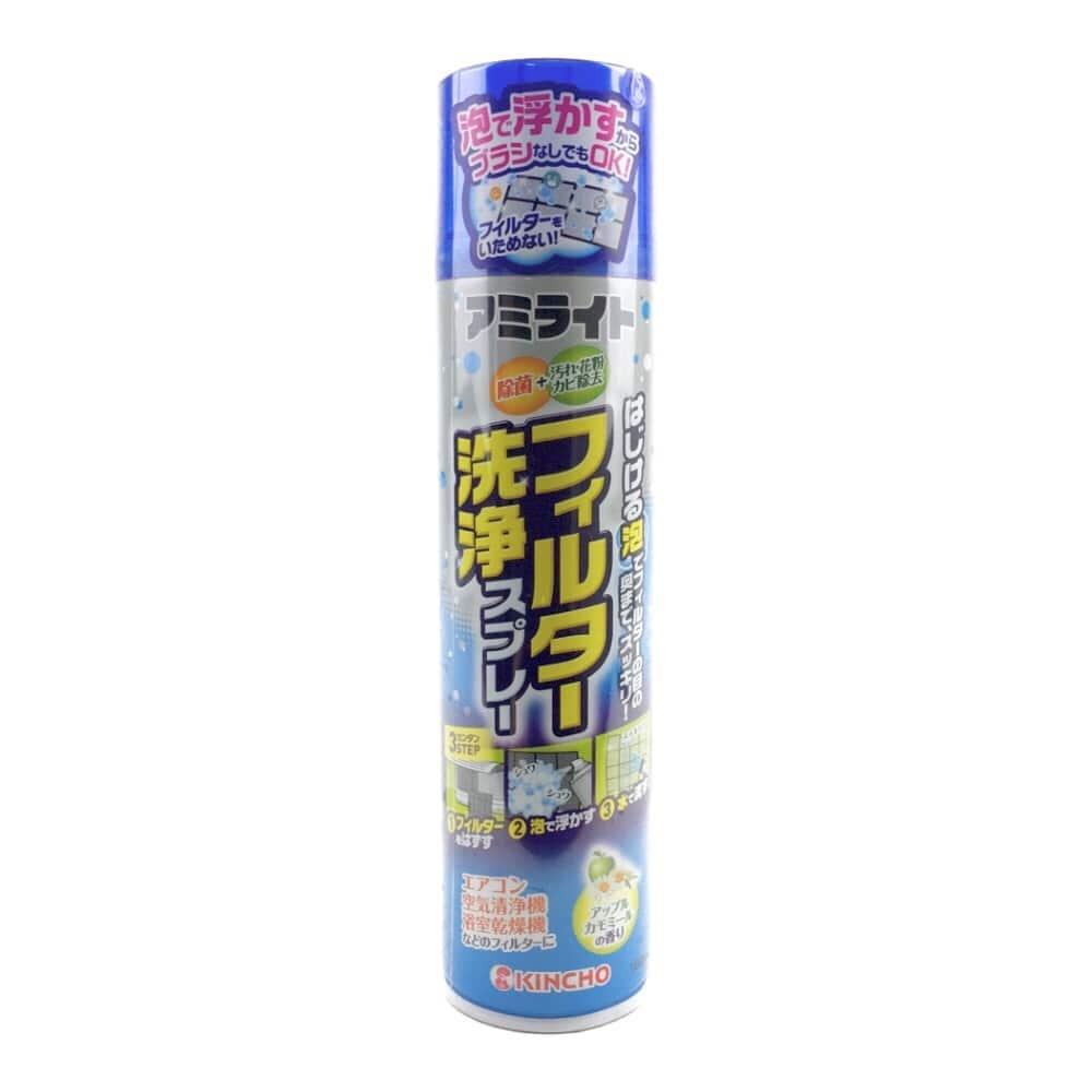 大日本除虫菊 金鳥 アミライト フィルター洗浄スプレー 180ml