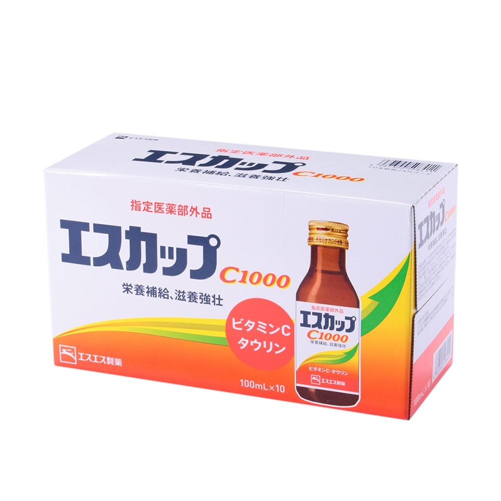 【店舗取り置き限定】エスエス製薬 エスカップC1000  100ml×10本