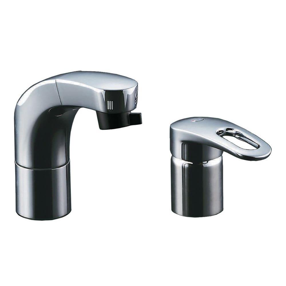 LIXIL 洗面用ホース引出シングルレバー混合水栓 寒冷地用 RLF-682YN
