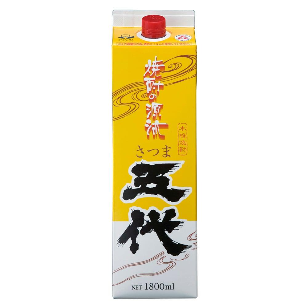 山元酒造 さつま五代パック 芋焼酎 25度 1.8L