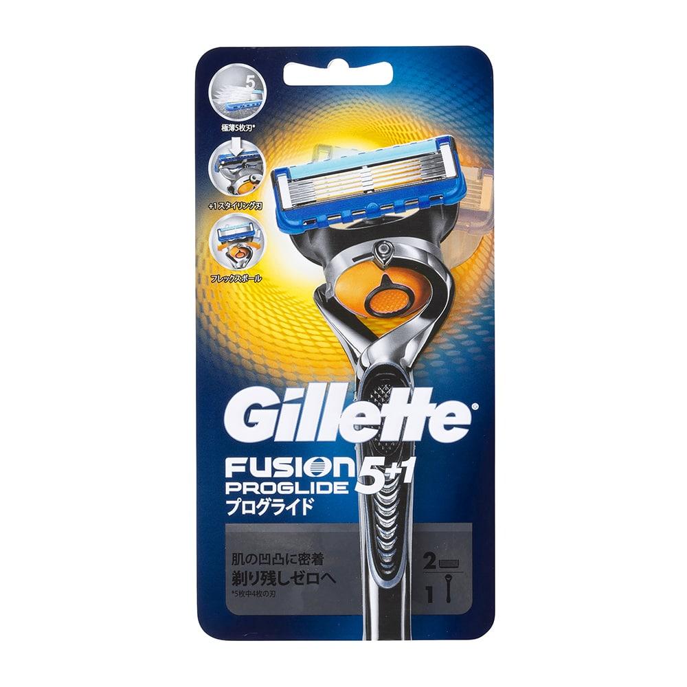 P&G ジレット プログライド フレックスボール マニュアル ホルダー 替刃2個付 カミソリ