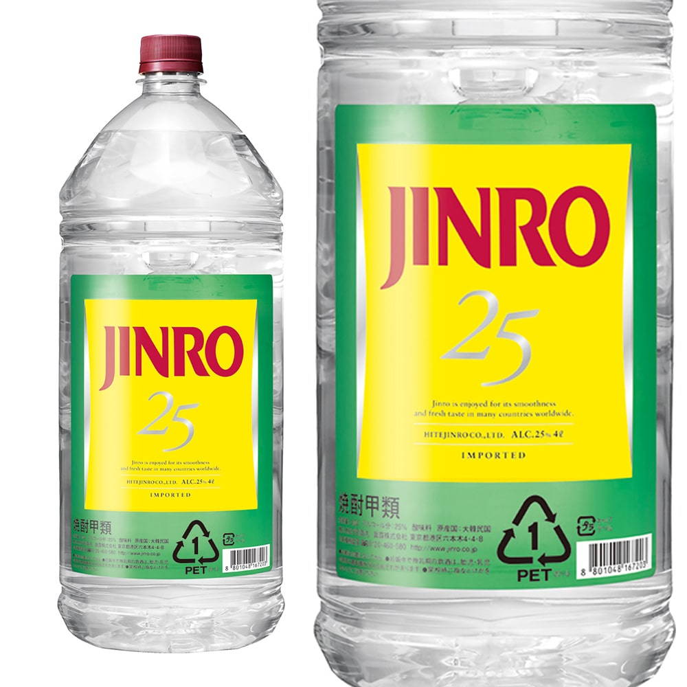 JINRO 25度 4.0Lペット【別送品】