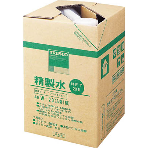 【CAINZ DASH】TRUSCO 精製水 20L (1個入)