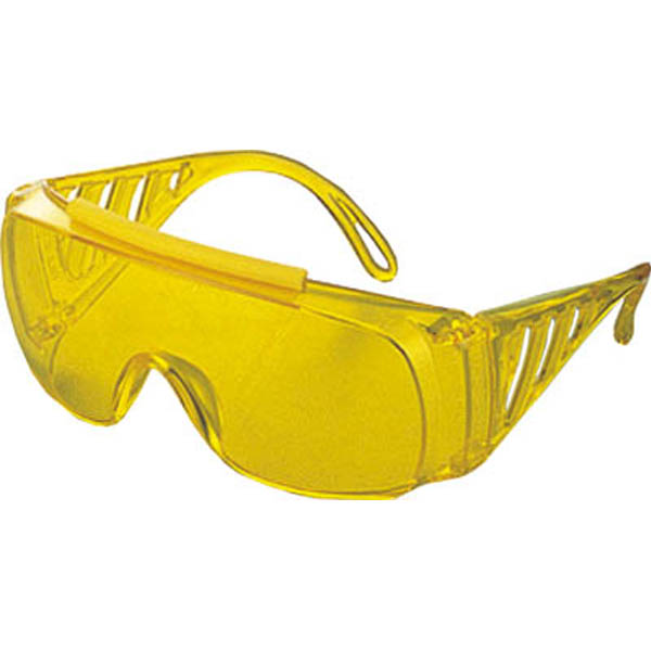 【CAINZ DASH】TRUSCO 一眼型サイド付セーフティグラス 黄