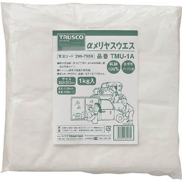 【CAINZ DASH】TRUSCO αメリヤスウエス 汎用タイプ 1kg