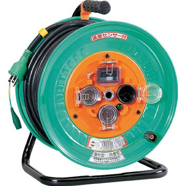 日動 電工ドラム 防雨防塵型100Vドラム アース漏電しゃ断器付 30m NPWEB33