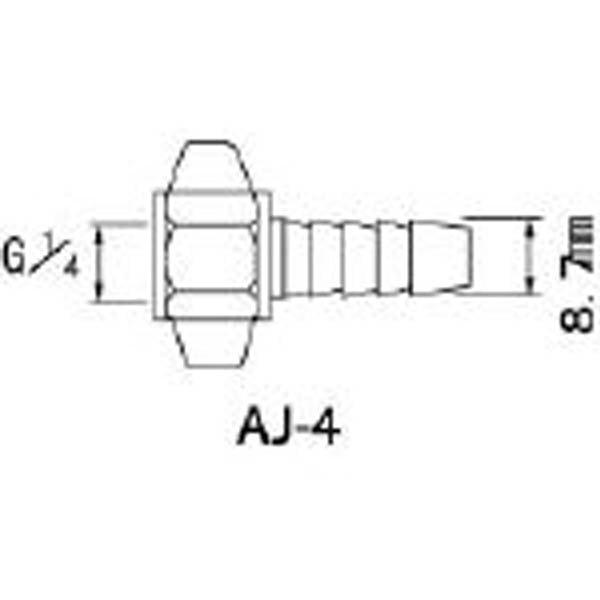 【CAINZ DASH】アネスト岩田 エアー用継手 ホースG1/4×8.7mm竹の子