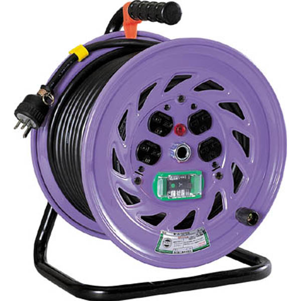【CAINZ DASH】日動 電工ドラム 単相200Vドラム アース漏電しゃ断器付 30m