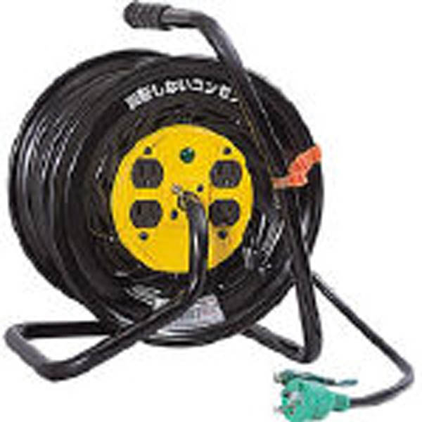 日動 電工ドラム マジックリール 100V アース付 30m ZE34