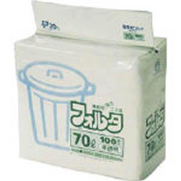 【CAINZ DASH】サニパック F−7H環優包装フォルタ70L白半透明 (1袋(PK)=100枚入)