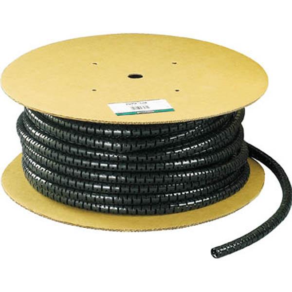 【CAINZ DASH】パンドウイット 電線保護チューブ スリット型スパイラル パンラップ 束線径18.3Φmm 30m巻き 黒 PW75F−C20