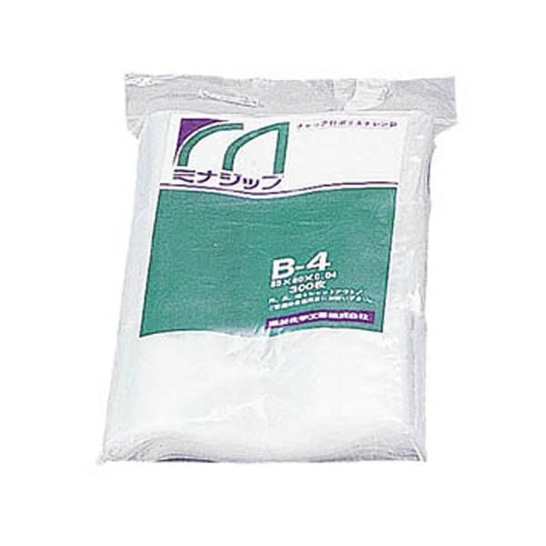 【CAINZ DASH】ミナ チャック付ポリエチレン袋 「ミナジップ」G−4 (100枚入)