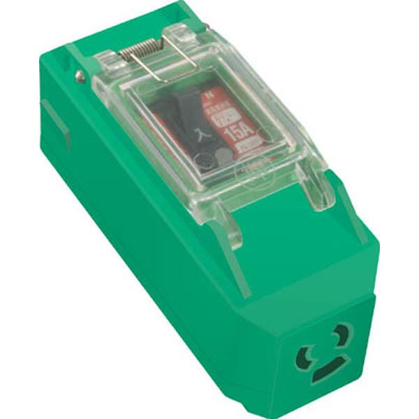日動 プラコンインポッキンブレーカ 抜止コンセント付 過負荷漏電遮断器付 PIPBEKN