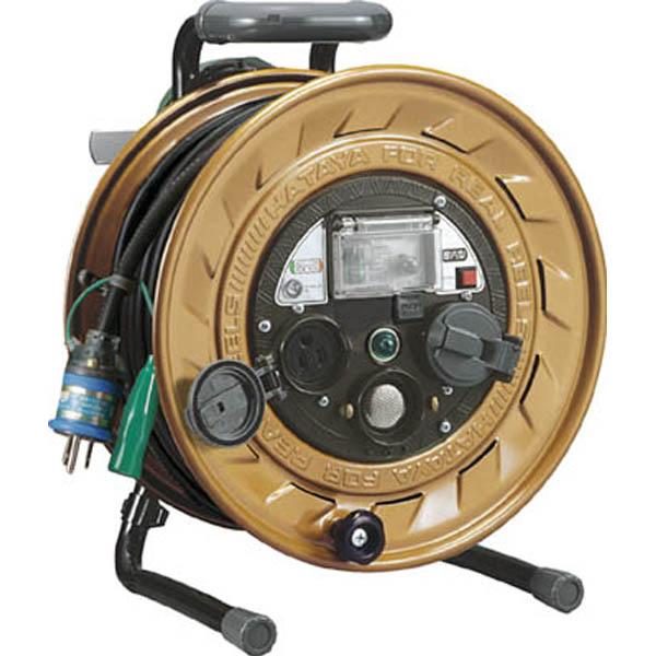 【CAINZ DASH】ハタヤ メタルセンサーリール 単相100V接地付 30m 接地抵抗可変式