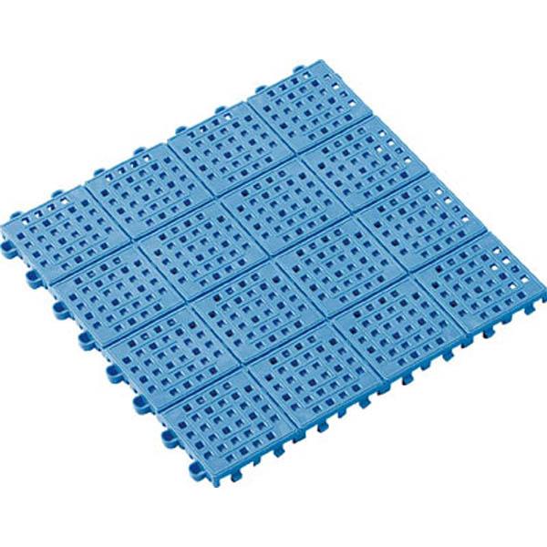 テラモト タッチマットII 300×300mm ブルー (1箱30枚)