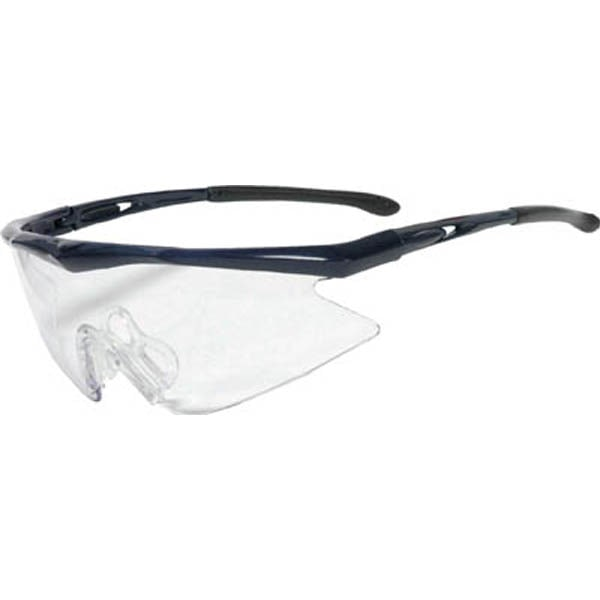【CAINZ DASH】TRUSCO 一眼型安全メガネ フレームブルー レンズクリア