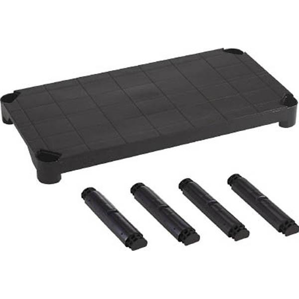 【CAINZ DASH】TRUSCO プラ棚用 棚板セット軽量型 脚付 800X350 黒