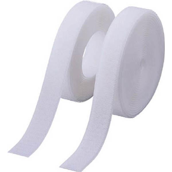 【CAINZ DASH】TRUSCO マジックテープ 縫製タイプ 50mmX5m 白(1巻=1セット)