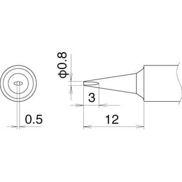 【CAINZ DASH】白光 こて先 0.8D型