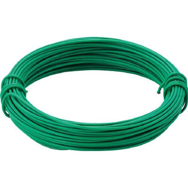 【CAINZ DASH】TRUSCO カラー針金 ビニール被覆タイプ グリーン 線径0.9mm