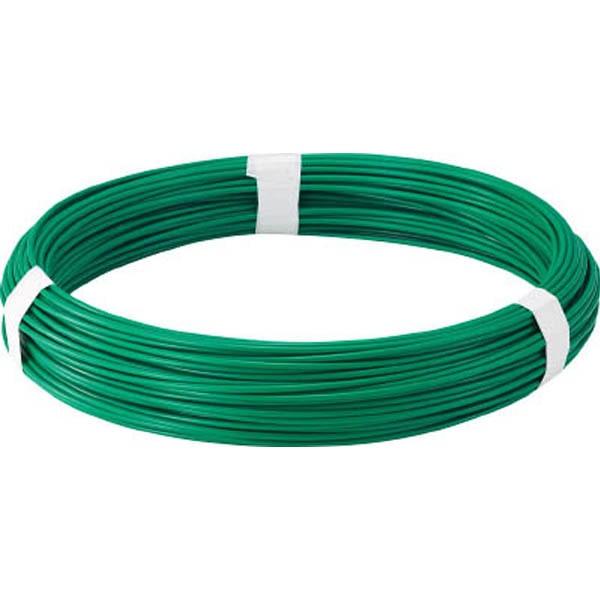 【CAINZ DASH】TRUSCO カラー針金 ビニール被覆タイプ グリーン 線径4.0mm