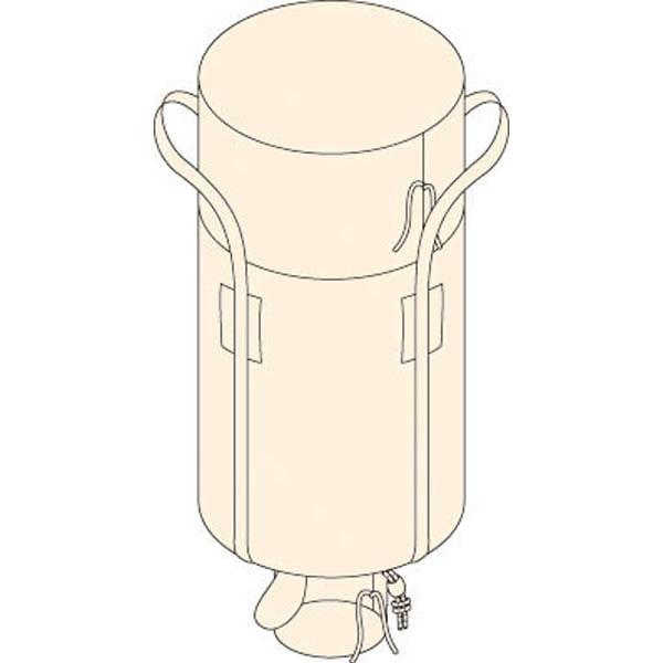 【CAINZ DASH】TRUSCO コンテナバック2型 外径1100mmX高さ1060mm 排出口あり