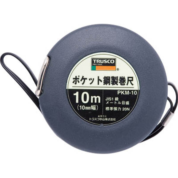 【CAINZ DASH】TRUSCO ポケット鋼製巻尺 スチール 10m