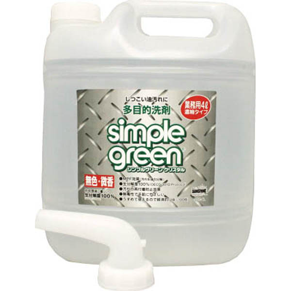 【CAINZ DASH】KDS シンプルグリーンクリスタル4L詰替