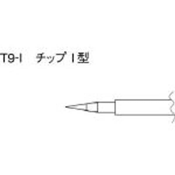 【CAINZ DASH】白光 こて先 I型 (2本入り)