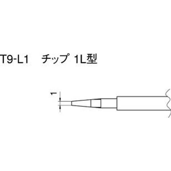 【CAINZ DASH】白光 こて先 1L型 (2本入り)