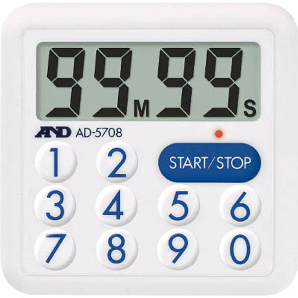 【CAINZ DASH】A&D 防滴100分間タイマー<LEDランプ付>
