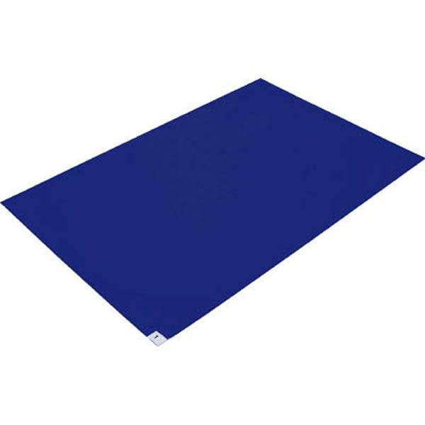 【CAINZ DASH】TRUSCO 粘着クリーンマット 600X900MM ブルー  (10枚入)