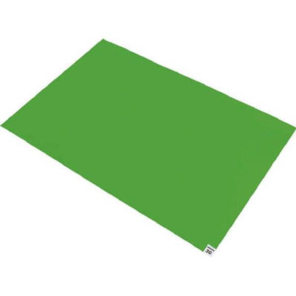 【CAINZ DASH】TRUSCO 粘着クリーンマット 600×900MM グリーン 1シート 30枚