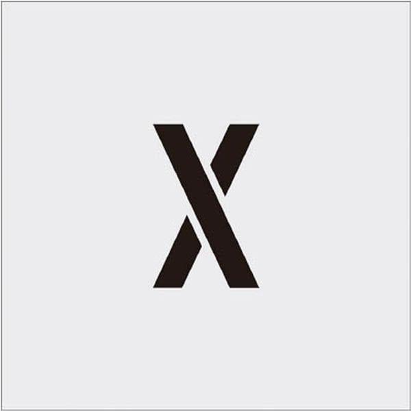 【CAINZ DASH】IM ステンシル X 文字サイズ100×65mm