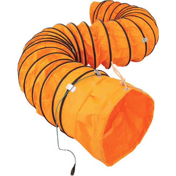 【CAINZ DASH】スイデン 送風機用ダクト 防爆用アース端子付 320mm 5m